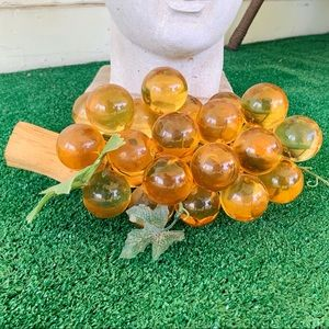 Vintage 60's/70's Lucite & Driftwood Grape Cluster